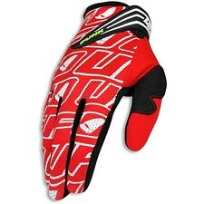 2016 UFO Adult Punk MX Motocross Enduro Trail BMX Gloves - Red