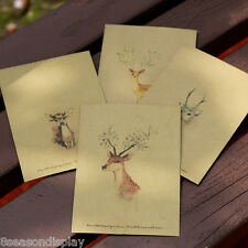 10PCs Yellow Painted Deer Craft Paper Leather Retro Chic Envelopes 16x10.8cm
