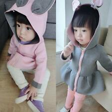 New Baby Kids Girls Cute Rabbit Hoodie Jacket Blouse Casual Coat Fall Outerwear