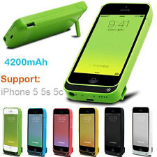 4200mAh External Battery Backup Charger Case Power Bank for iPhone SE/5/5S US BA