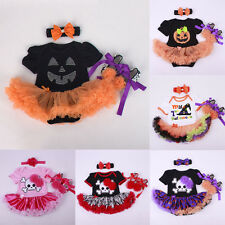 New Baby Toddler Halloween Party Costume Romper Fancy Dress Christmas Outfit Set