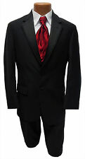 Mens Size 42R Black  Ralph Lauren Newport Jacket & Pants Wedding Tuxedo