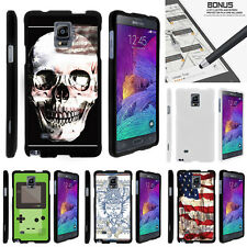 For Samsung Galaxy Note 4 N910 Case Hard Snap On 2 Piece Slim Shell USA Skull
