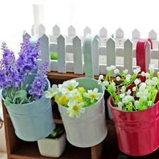 Colorful Metal Iron Flower Pots Hanging Balcony Garden Plant Planter Home Decor