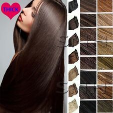 """Double Weft 16""""18""""20""""22"""" 5A Clip In Full Head Remy Human Hair Extensions US U324"""