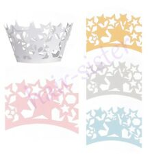 New Colour Star Cupcake Decorating Liners Cake Lace Paper Wrappers Wraps Cases