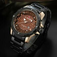 Luxury Stainless Steel NAVIFORCE Mens Analog Date Quartz Wrist Watch + Box E8A1