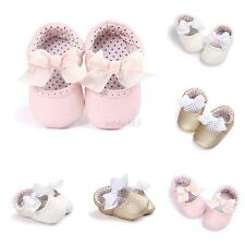 Perfect Princess Toddler Babys Girls Soft Bow PU Casual Beauty First Crib Shoes