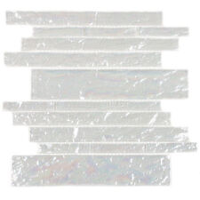Bright White Ice Club 7.81 Square Foot Piano Tiles (Case of 11 Sheets)