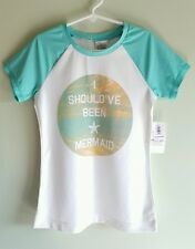 NWT Old Navy Girls MED LARGE Short Sleeve Rash Guard SUN SHIRT Cover Up  #107916