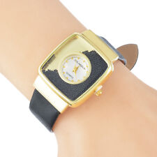 Gift New Ladies Fashion Quicksand Casual Leather Strap Dress Watch Wristwatch