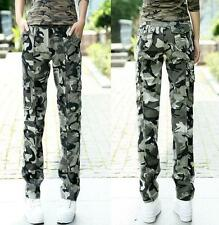 Womens Military Army Fashion camo Cargo Pocket Pants loose Trousers Outdoor