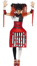 Ladies Jackie In A Box Creepy Doll Halloween Fancy Dress Costume Outfit UK 12-14