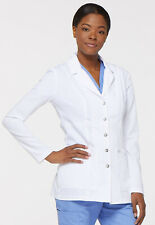 "Dickies Medical Scrubs Xtreme Stretch Snap Front Lab Coat 28"" Sz XS-XXL NWT"