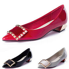 Shallow Mouth Thick with Low Shoes Pointed Toe High Heels  Comfortable Ladies