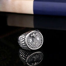 COOL Mens Jewelry Thor Mjolnir 316L Stainless Steel Ring HB147 Multi-size
