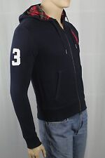Polo Ralph Lauren Navy Blue Hoodie Full Zip Sweatshirt Red Big Pony NWT