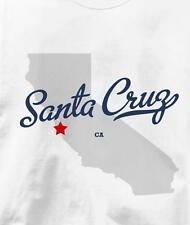 Santa Cruz, California CA MAP Souvenir T Shirt All Sizes & Colors