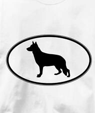 German Shepherd Oval Profile Dog T Shirt All Sizes & Colors
