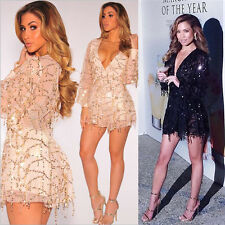 Sexy Women Playsuits Jumpsuits Rompers Deep V Neck Long Sleeve High Waist C