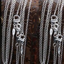 """50PCS/Lots Rolo Link Chain 1mm Necklaces 16inch 18"""" 20"""" 22"""" 24inch Wholesale"""