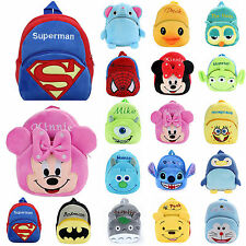 New Baby Kids Boys Girls Cartoon Backpack Schoolbag Plush Shoulder Bag Rucksack