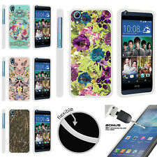 For HTC Desire 626 | 626s Slim Flexible TPU Case Butterfly Flower