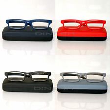 (4130) Designer Reading Glasses glasses with edge Blue Red Black Grey