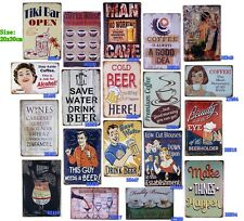 Antique Metal Painting Tin Signs Vintage Home Bar Decor Wall Poster Cafe Plaque