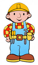 "6.5-10"" BOB THE BUILDER CHARACTER WALL SAFE STICKER  BORDER CUT OUT"