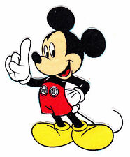 """3.5"""" DISNEY  MICKEY MOUSE  CHARACTER FABRIC APPLIQUE IRON ON"""