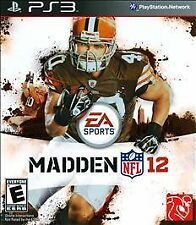 MADDEN 12 a NFL FOOTBALL Sport VIDEO GAME for the SONY PLAYSTATION 3 PS3 Console