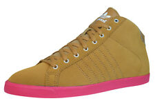 adidas Court Slim Mid Womens Leather Suede Trainers - Shoes - Wheat - Q34204