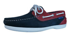 Quayside Bermuda Womens Leather Suede Deck / Boat Shoes - Navy Magenta