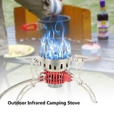 Outdoor Camping Hiking Stove Windproof Gas Furnace Burner Picnic Cookout L6N2