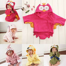 Cute Animal Cartoon Baby Kid Child Bath Towel Wrap Bathrobes Hooded Bathing Robe