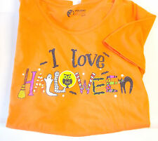 Halloween Orange I Love Halloween Short sleeve T-shirt Womens Plus 2X  NWT