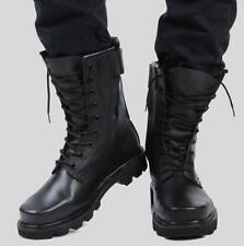 Mens Moto Mid Calf Boots Military Combat winter fur lined work Shoes SZ US12.5