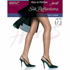 Silk Reflections Women's Control Top Sheer Toe Little Color Pantyhose