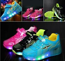 Hot New Kids Boys Girls Light Roller Shoes Skate Retractable single wheel Heelys