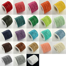 1 Roll Waxed Cotton Braided String Thread Cords Wire Beading Craft Bracelet 1mm