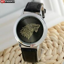 Fashion LED Digital Touch Screen Watch Leather Band Sport Wrist Watch Mens New