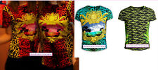 Staff-issue UK XS S M L XL Red Blue Green Leopard Palm T-Shirt Rare Versace H&M