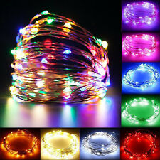 Christmas 100/150/200LED Waterproof Solar/12V Copper Wire Xmas String Lights US