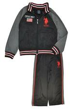 US Polo Assn Toddler Boys Black & Red 2pc Track Pant Set Size 2T 3T 4T $45