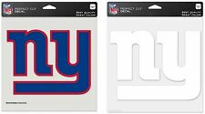 "NFL New York Giants Wincraft Clear or Color 8"" x 8"" Perfect Cut Decals NEW!"