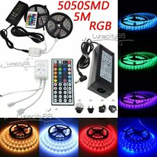 5M 10M 5050SMD Xmas Flexible LED Strips Light 24Key 44key IR 12V Power Supply