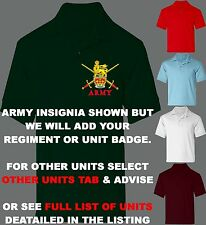 UNIT R-S BUY 3 GET 1 FREE 100% COTTON REGIMENT POLO SHIRT 2XL 3XL SHIRT SIZE 52