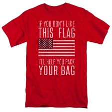 T-Shirts Sizes S-5XL New Mens Pack Your Bag Flag Red T-Shirt Patriotic Colin