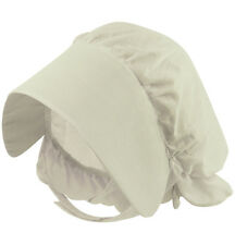 Child Fancy Dress Victorian White Bonnet Edwardian H20 124